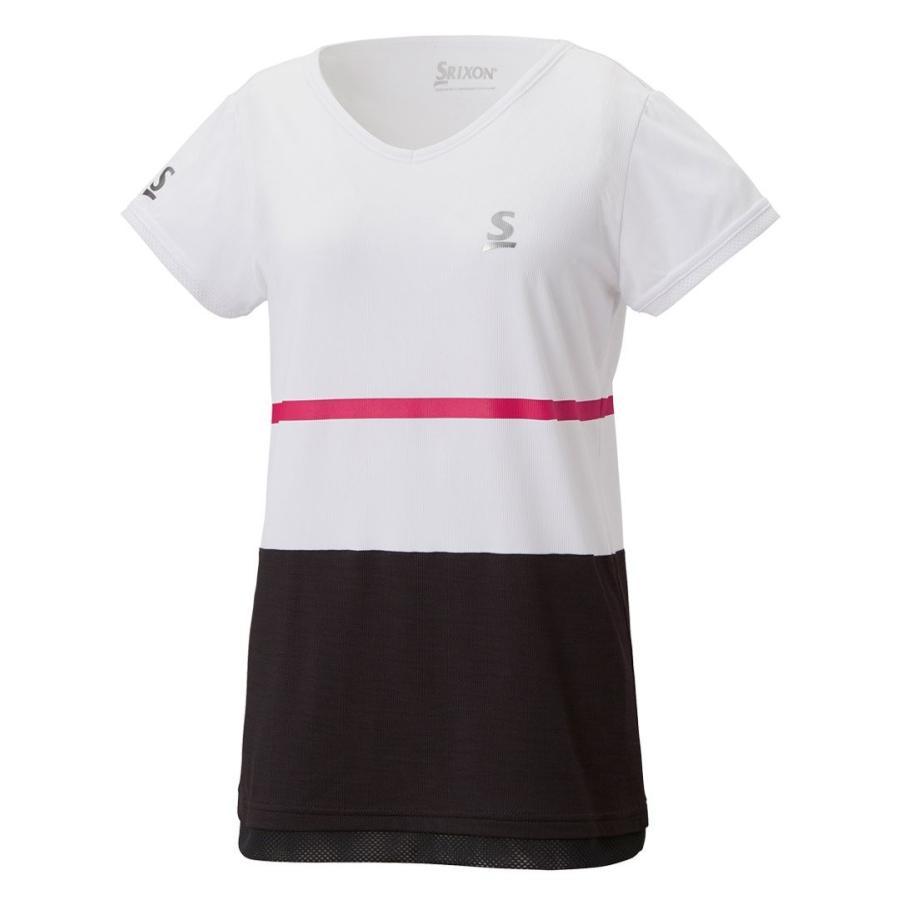 スリクソン(SRIXON) テニスウェア レディース ゲームシャツ SDP-1827W ホワイト L