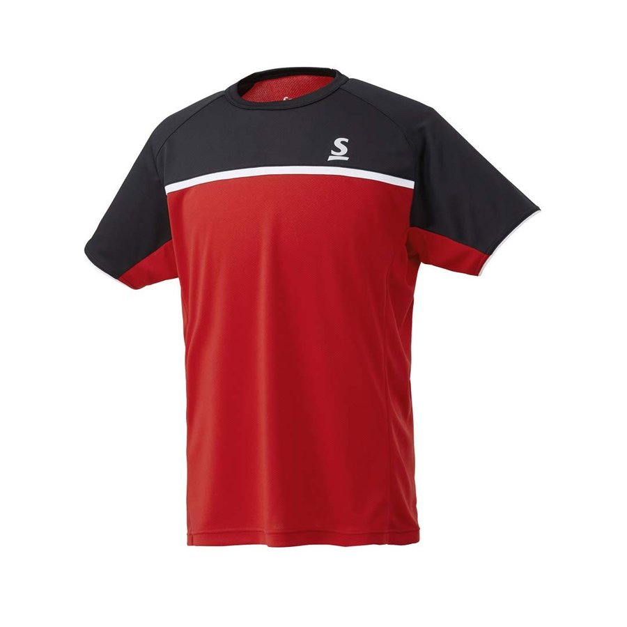 スリクソン SRIXON テニスウェア ユニセックス ゲームシャツ SDP-1844 SDP-1844 2018FW 7月中旬発売予定※予約 (S, レッド)