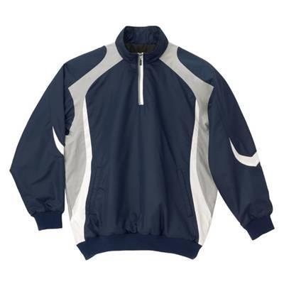 DESCENTE(デサント) 長袖プルオーバーコート M ネイビー×ホワイト×シルバー STD-428