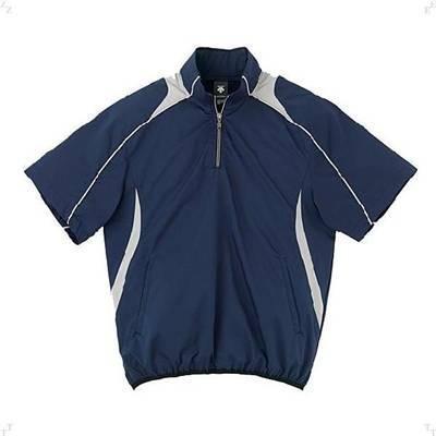 DESCENTE(デサント) 半袖プルオーバーコート XO ネイビー×シルバー STD-465