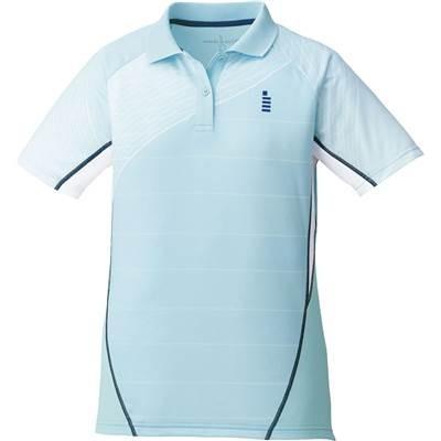 ゴーセン(GOSEN) レディース バドミントン ソフトテニス ゲームシャツ ミント T1701 40(ミント) L
