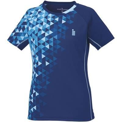 ゴーセン(GOSEN) テニス バドミントン レディース ゲームシャツ T1717 ネイビー(17) S
