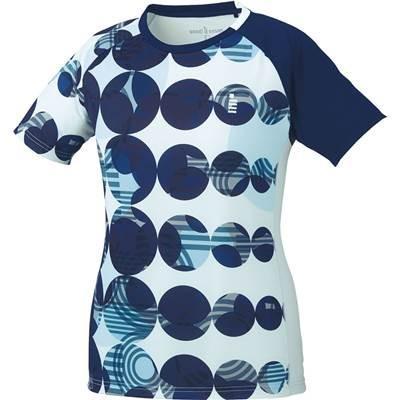 ゴーセン(GOSEN) ソフトテニス バドミントン2018年モデル レディース ゲームシャツ T1805 アイスブルー(11) LLサイズ