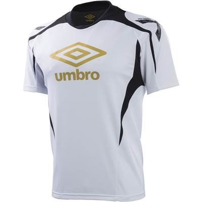アンブロ(UMBRO) PT パフォーマンス S/S シャツ UBS7722 WHT ホワイト/ブラック O