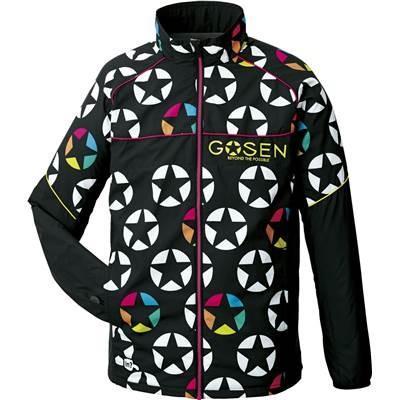 ゴーセン(GOSEN) 男女兼用 テニス ウィンドウォーマージャケット(裏起毛) UY1600 ブラック XL