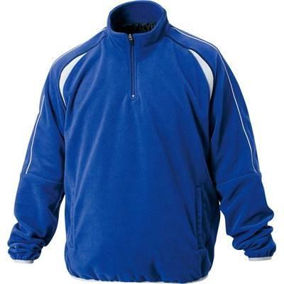 ZETT(ゼット) 野球用 フリースジャケット 立衿 ハーフジップ 裏地付き BOF110A ロイヤルブルー(2500) 2XO