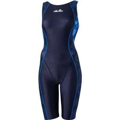 ellesse(エレッセ) レディース 競泳用 脚付き水着 カモFINAオールインワン FINA承認 ES48101F ネイビーブルー(NB) M