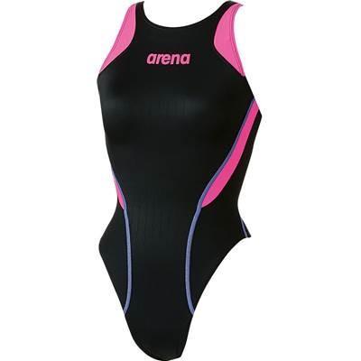 arena(アリーナ) レディース 競泳用 水着 リミック(クロスバック) X-パイソン2 ARN-7031W BKFP L