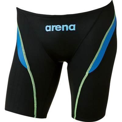 arena(アリーナ) メンズ 競泳用 水着 ハーフスパッツ X-パイソン2 ARN-7032M BKLB SS