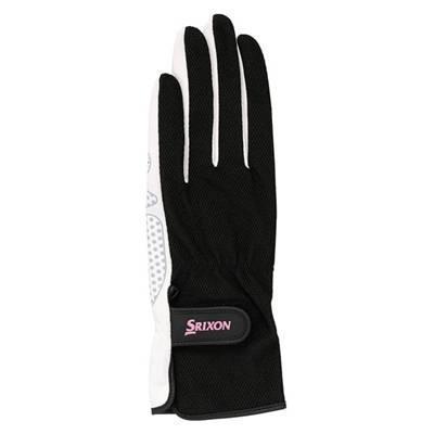SRIXON(スリクソン) テニス レディース用 シリコンプリント グローブ (両手セット) SGG2550 ブラック Lサイズ montaukonline