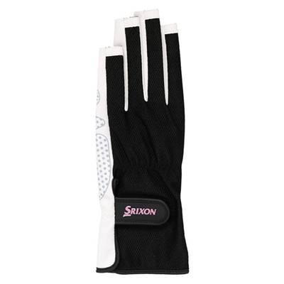 SRIXON(スリクソン) テニス レディース用 シリコンプリント グローブ ネイルスルータイプ (両手セット) SGG2570 ブラック Lサイズ|montaukonline