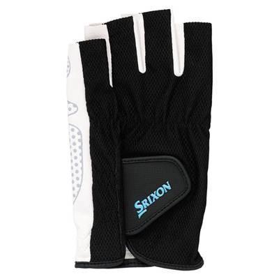 DUNLOP(ダンロップ)SRIXON(スリクソン) メンズ シリコンプリントグローブ(ハーフタイプ) (両手セット) ブラック SGG-2590-081 (Lサイズ)|montaukonline