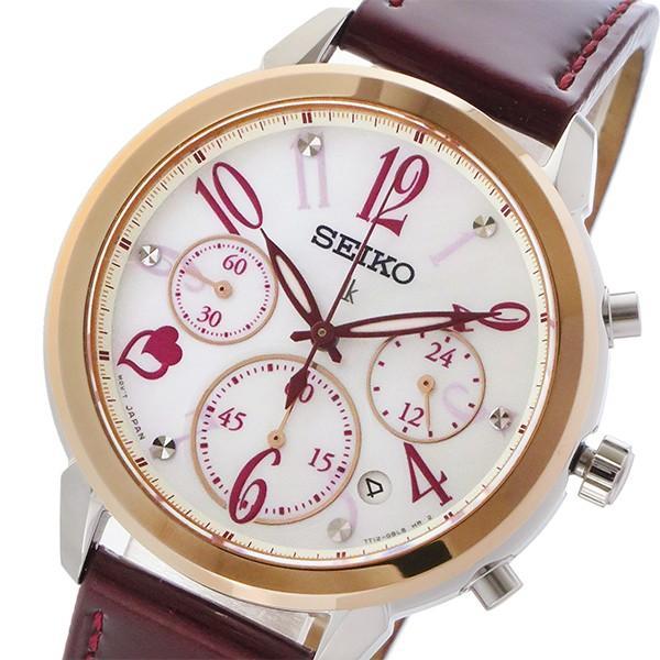 日本最大のブランド セイコー SEIKO ルキア LUKIA 限定モデル クオーツ クロノ レディース 腕時計 SRW812P1 シェル/レッド, タクマ食品 f991db1d