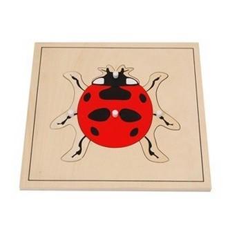モンテッソーリ教具 --昆虫パズル(テントウムシ)-- 幼稚園 保育園 幼児教育 教材 教具
