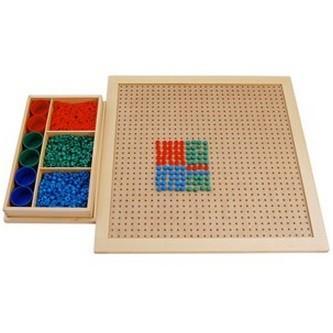 モンテッソーリ教具 --ペグボードとペグ-- 幼稚園 保育園 小学校 教材 上級算数教具
