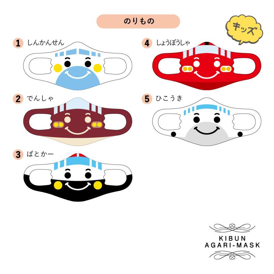 【送料無料・ポイント10倍】選べるマスク3枚セット 乗り物 車 子供 オリジナルプリント 洗える かわいい プレゼント 小顔 mony 02