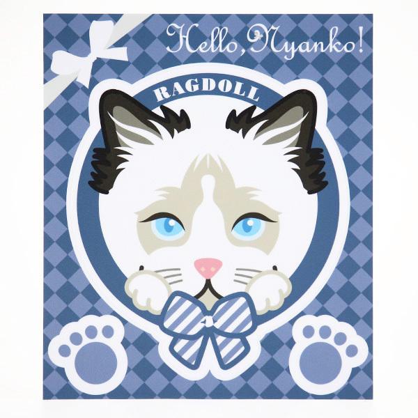 Hello,Nyanko! ステッカー 猫 ネコ 車 玄関 かわいい mony 06