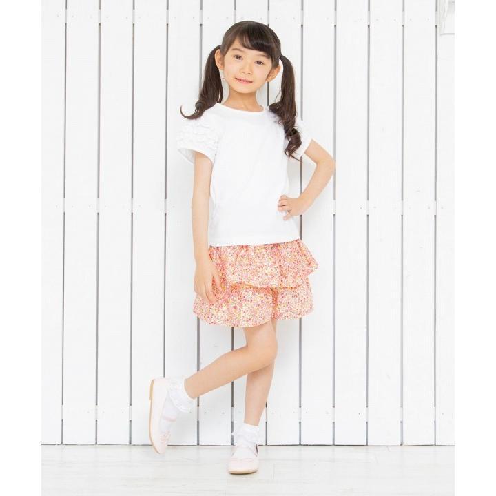 子供服 女の子 Tシャツ 半袖 普段着 通学着 音符刺繍フリルパフ袖シンプルデザイン オフホワイト 100cm 110cm 120cm 130cm 140cm むーのんのん moononnon|moononnon|11