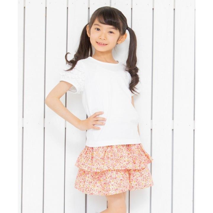 子供服 女の子 Tシャツ 半袖 普段着 通学着 音符刺繍フリルパフ袖シンプルデザイン オフホワイト 100cm 110cm 120cm 130cm 140cm むーのんのん moononnon|moononnon|10