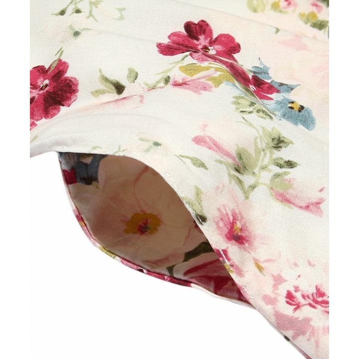 子供服 女の子 ワンピース・ジャンパースカート 半袖 フォーマル 発表会 結婚式 お出かけ着 日本 綿100%花柄リボン付きAライン  むーのんのん MOONONNON|moononnon|05