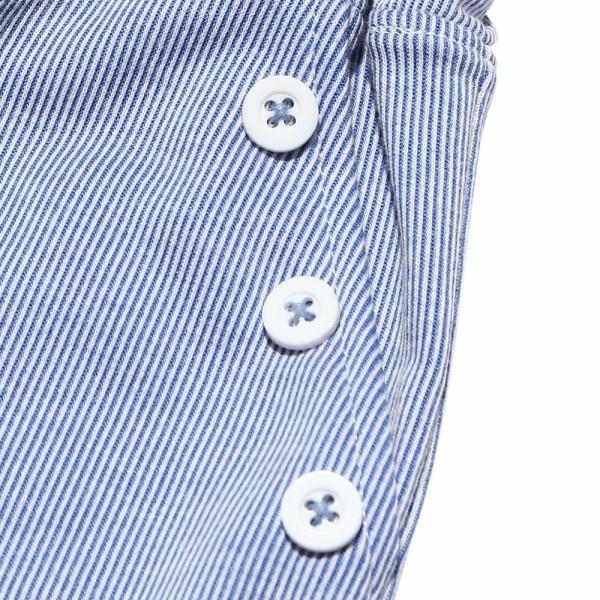 子供服 女の子 キュロット 膝丈 普段着 通学着 ストライプ柄ニット素材ポケット&飾りボタン付きウエストゴム ブラック ブルー アイアムマリリン IamMarilyn moononnon 09