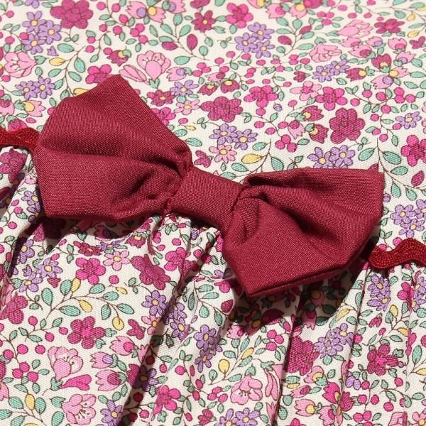 子供服 女の子 ワンピース・ジャンパースカート 半袖 お出かけ着 普段着 日本製ベビーサイズ綿100%花柄リボン&襟付き アイアムマリリン IamMarilyn|moononnon|08