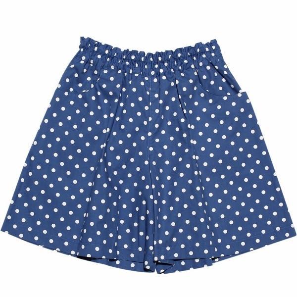 子供服 女の子 キュロット 膝丈 普段着 通学着 日本製 綿100%ドット柄ウエストゴムポケット付きキュロットパンツ アイアムマリリン IamMarilyn|moononnon|02