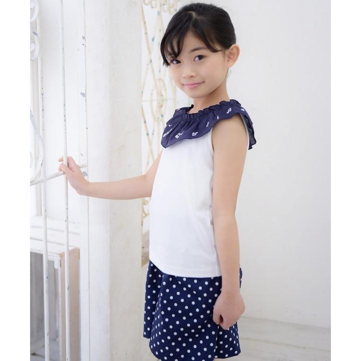 子供服 女の子 キュロット 膝丈 普段着 通学着 日本製 綿100%ドット柄ウエストゴムポケット付きキュロットパンツ アイアムマリリン IamMarilyn|moononnon|14