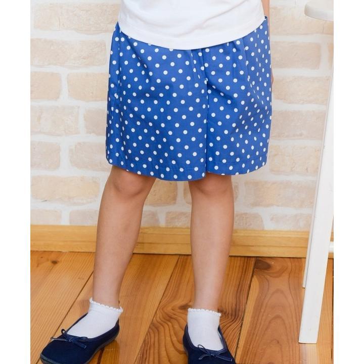 子供服 女の子 キュロット 膝丈 普段着 通学着 日本製 綿100%ドット柄ウエストゴムポケット付きキュロットパンツ アイアムマリリン IamMarilyn|moononnon|16