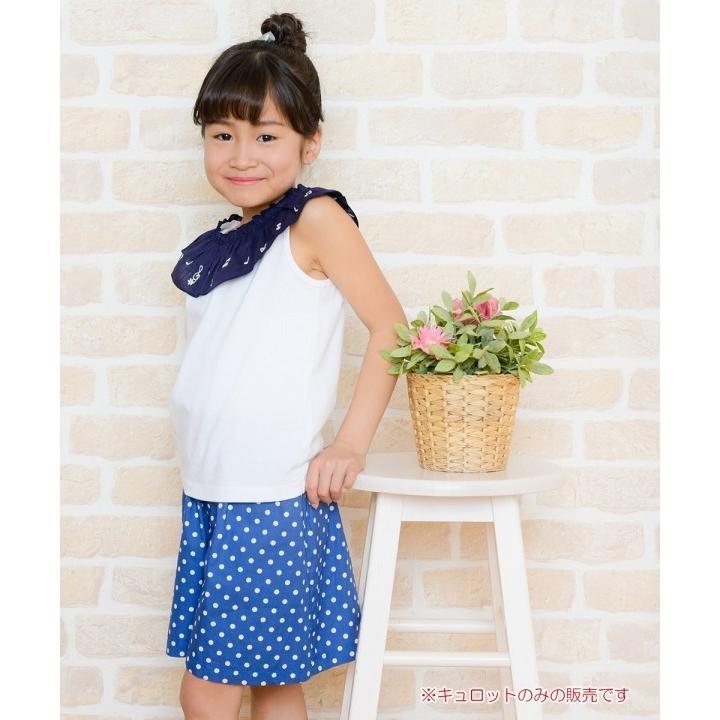 子供服 女の子 キュロット 膝丈 普段着 通学着 日本製 綿100%ドット柄ウエストゴムポケット付きキュロットパンツ アイアムマリリン IamMarilyn|moononnon|18