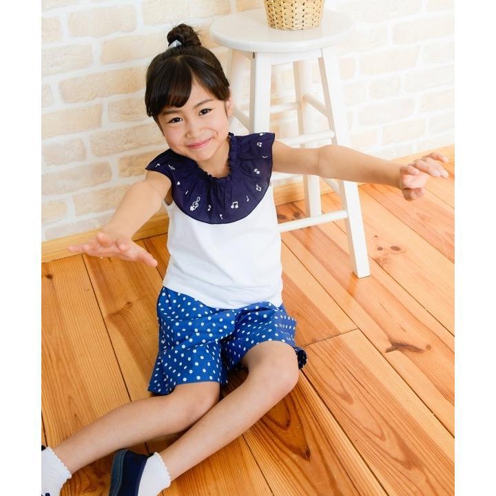 子供服 女の子 キュロット 膝丈 普段着 通学着 日本製 綿100%ドット柄ウエストゴムポケット付きキュロットパンツ アイアムマリリン IamMarilyn|moononnon|19