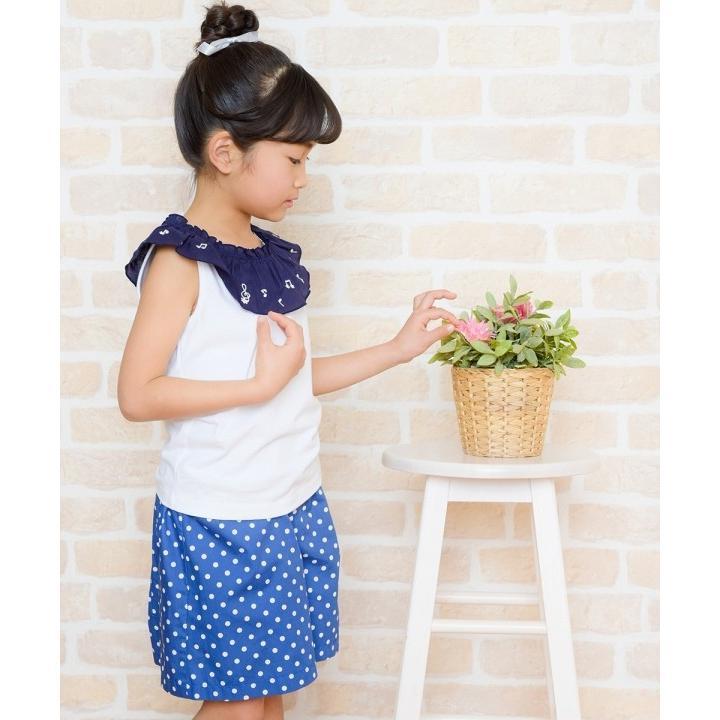 子供服 女の子 キュロット 膝丈 普段着 通学着 日本製 綿100%ドット柄ウエストゴムポケット付きキュロットパンツ アイアムマリリン IamMarilyn|moononnon|20