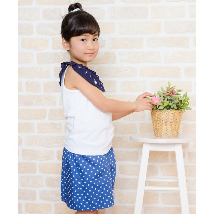 子供服 女の子 キュロット 膝丈 普段着 通学着 日本製 綿100%ドット柄ウエストゴムポケット付きキュロットパンツ アイアムマリリン IamMarilyn|moononnon|21