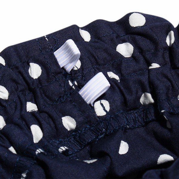 子供服 女の子 キュロット 膝丈 普段着 通学着 日本製 綿100%ドット柄ウエストゴムポケット付きキュロットパンツ アイアムマリリン IamMarilyn|moononnon|09