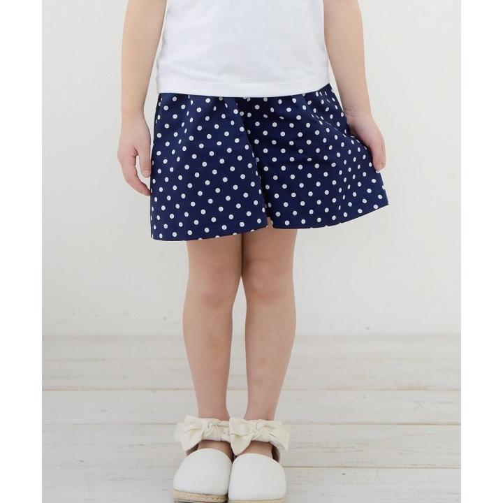 子供服 女の子 キュロット 膝丈 普段着 通学着 日本製 綿100%ドット柄ウエストゴムポケット付きキュロットパンツ アイアムマリリン IamMarilyn|moononnon|10