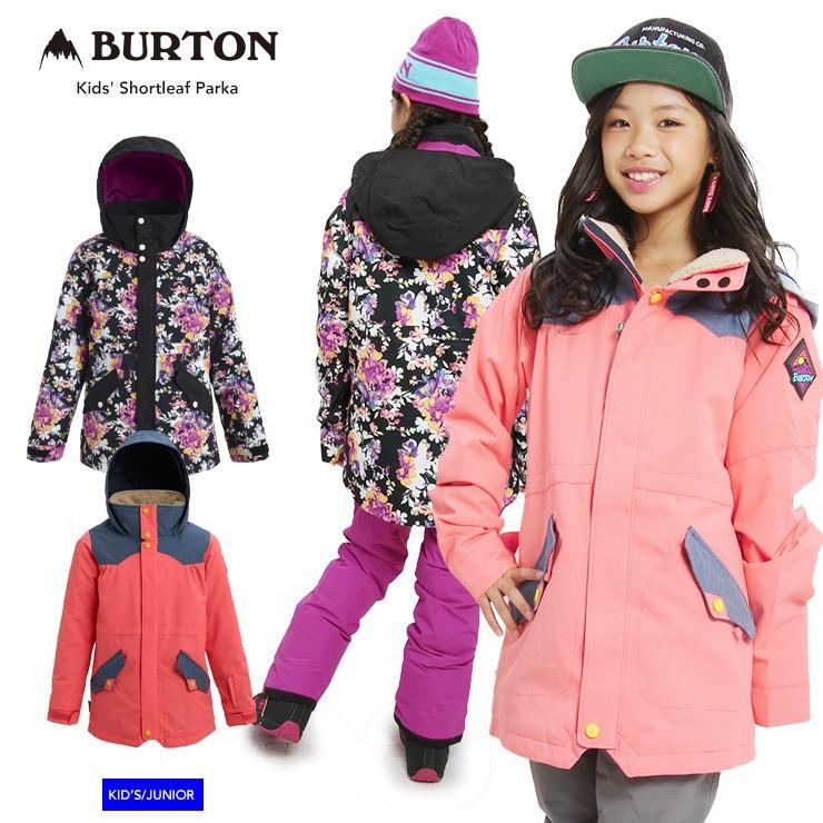 19-20 2020 BURTON バートン キッズ ウェア Kids' Shortleaf Parka ジャケット スノーウェア スノーボード スキー 子供 ガールズ【モアスノー】