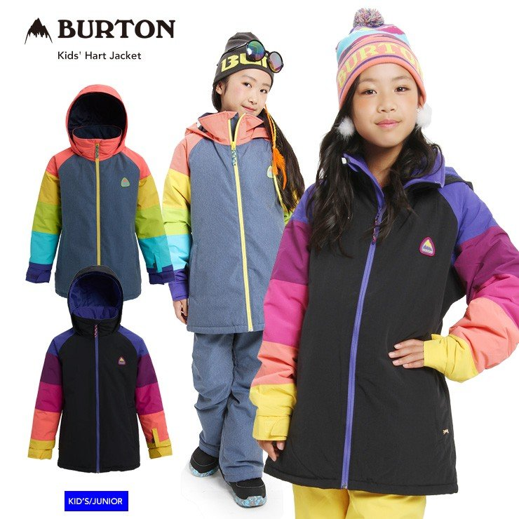 19-20 2020 BURTON バートン キッズ ウェア Kids' Hart Jacket ハートジャケット スノーウェア スノーボード スキー 子供 ガールズ【モアスノー】