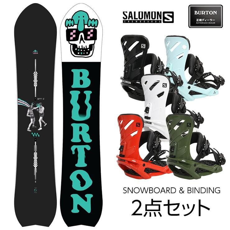 ビンディング付き 2020 BURTON バートン KILROY DIRECTIONAL スノーボード & SALOMON RHYTHM サロモン リズム バインディング 2点セット