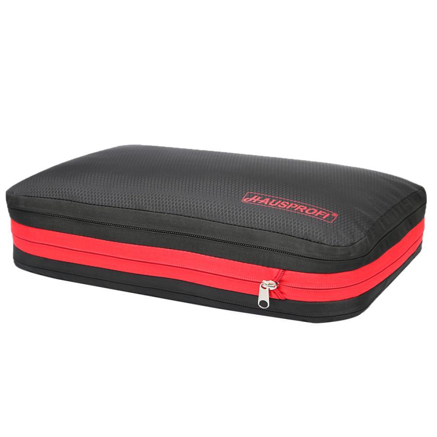HAUSPROFI 圧縮バッグ 衣類圧縮バッグ 旅行圧縮バッグ 出張 バッグ 圧縮便利ケース ファスナー圧縮で衣類スペース50%節約 簡単圧縮|mori-plaza