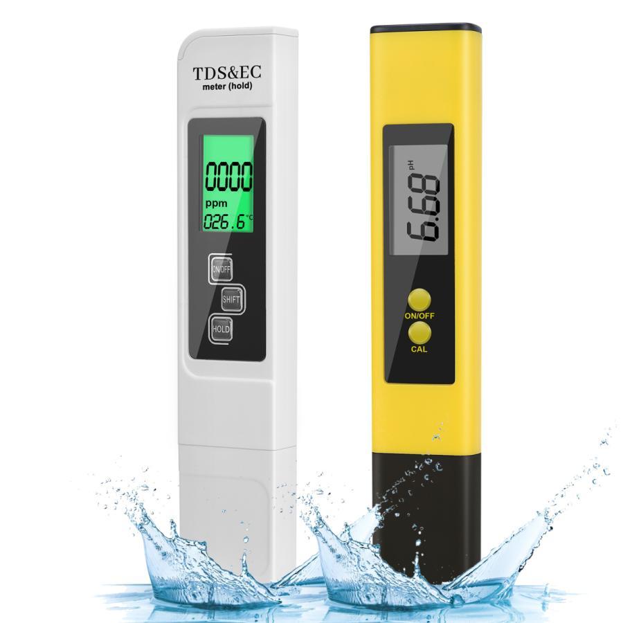 HAUSPROFI ペーハー測定器 2本入り PH測定器 TDS測定器 水質検査 半額 自動校正 日本語取り扱い説明書 PHメーターデジタルテスター 着後レビューで 送料無料 水質検査キット 試験 校正液なし