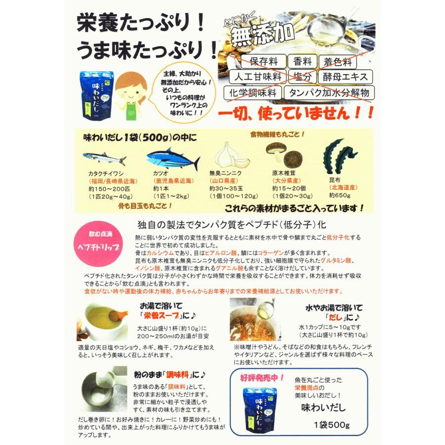 天然素材100%の出汁『味わいだし』 1袋500g|morie|05