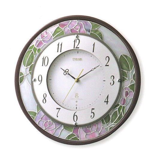 壁掛け時計 電波時計 エミュエールM8F インテリア 掛時計 8MY481EN06 リズム RHYTHM 文字入れ名入れ対応、有料 取り寄せ品