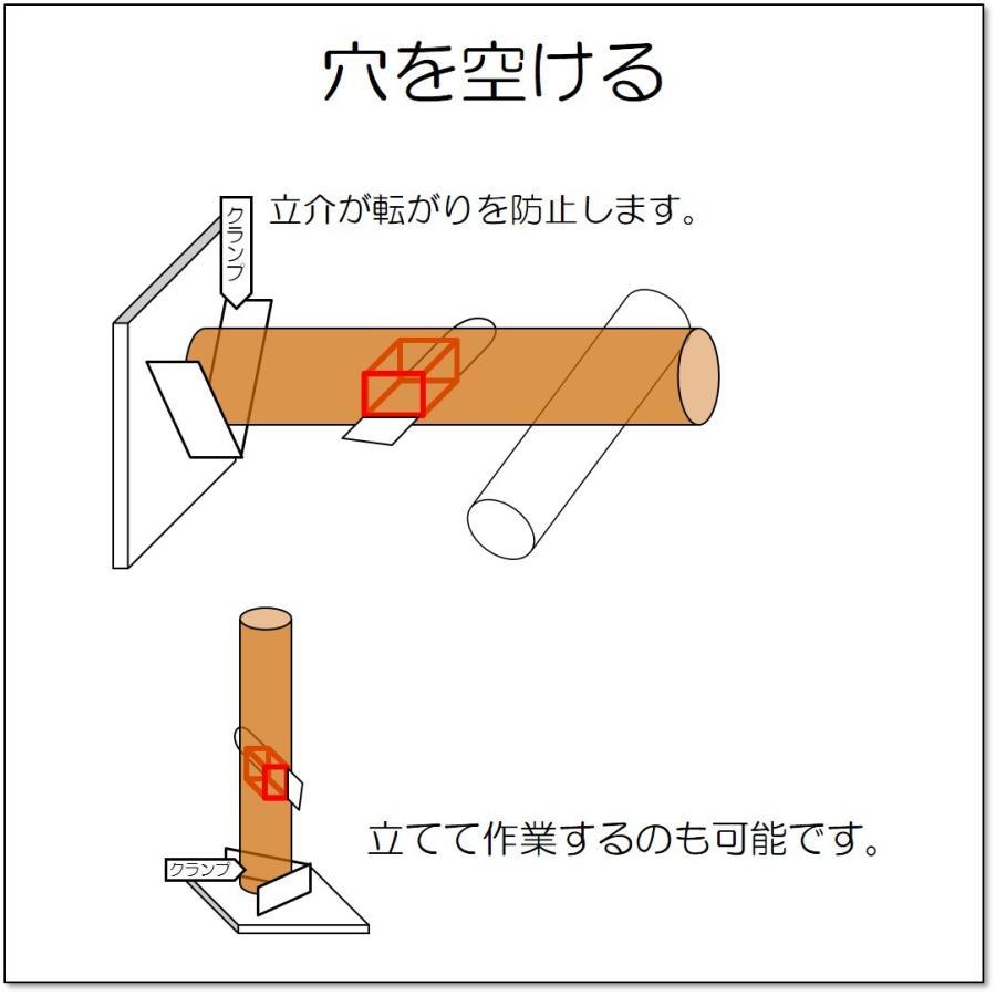 丸太 バイス 立介 たちすけ 固定 万力 クランプ スウェーデントーチ チェンソーアート・カービング 簡易製材 木工 縦挽き 縦切り 横挽き 輪切り 訳あり 値引き|morinokikai|11