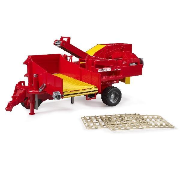 車 おもちゃ 農業 トラクター BRUDER ブルーダー Grimme ポテトディガー(ポテト80個付き)02130
