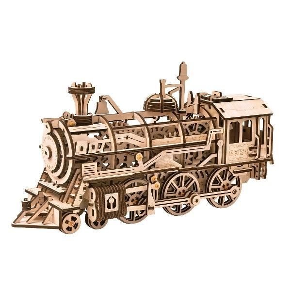 DIY つくるんです Robotime 機関車LK701 日本語説明書付き 正規品スーパーSALE×店内全品キャンペーン 春の新作続々 3Dウッドパズル