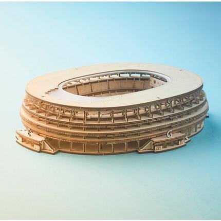 DIY 推奨 つくるんです つくろう 超目玉 3Dウッドパズル 国立競技場 日本語説明書付き TGN03