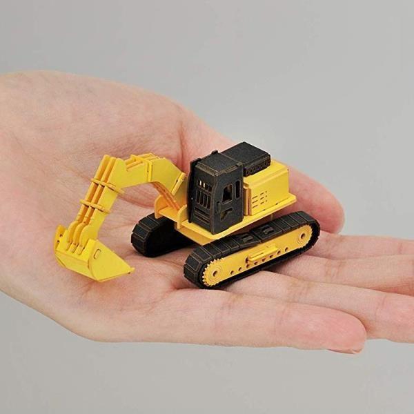 あおぞら ペーパークラフト Cars Craft mini Power Shovel パワーショベル CCM-K2|morinokobito|03