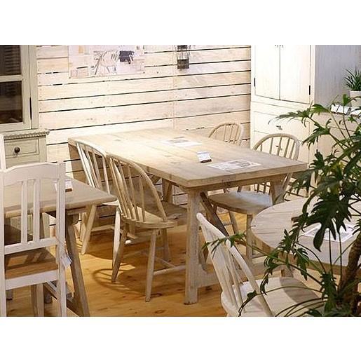 流木風のオシャレでシャビーな160cm幅パイン古材のダイニング5点セット 食卓セット