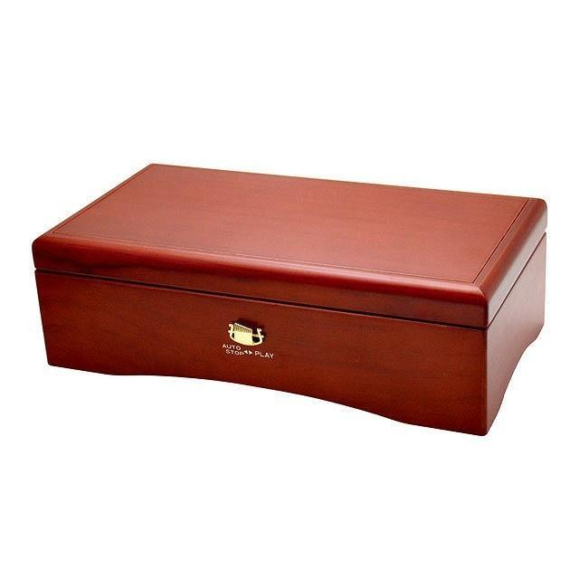 宅送 サンキョー オルフェウス 72弁 セール特別価格 クルピシャ材 ワインレッド オルゴール共鳴箱セット EX-384 日本製 送料無料