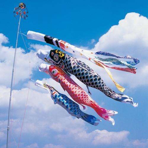 鯉のぼり こいのぼり 錦鯉 羽衣錦鯉 1.2m ベランダタイプ シルク飛龍吹流し ホームセット Bタイプ 12号